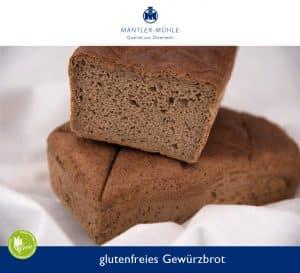 Grewürzbrot glutenfrei mit Mantler Brot-Mix glutenfrei