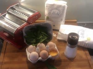 Bärlauch, Eier und glutenfreies Mehl