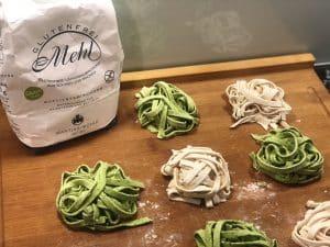 Pasta mit glutenfreiem Mantler Mehl