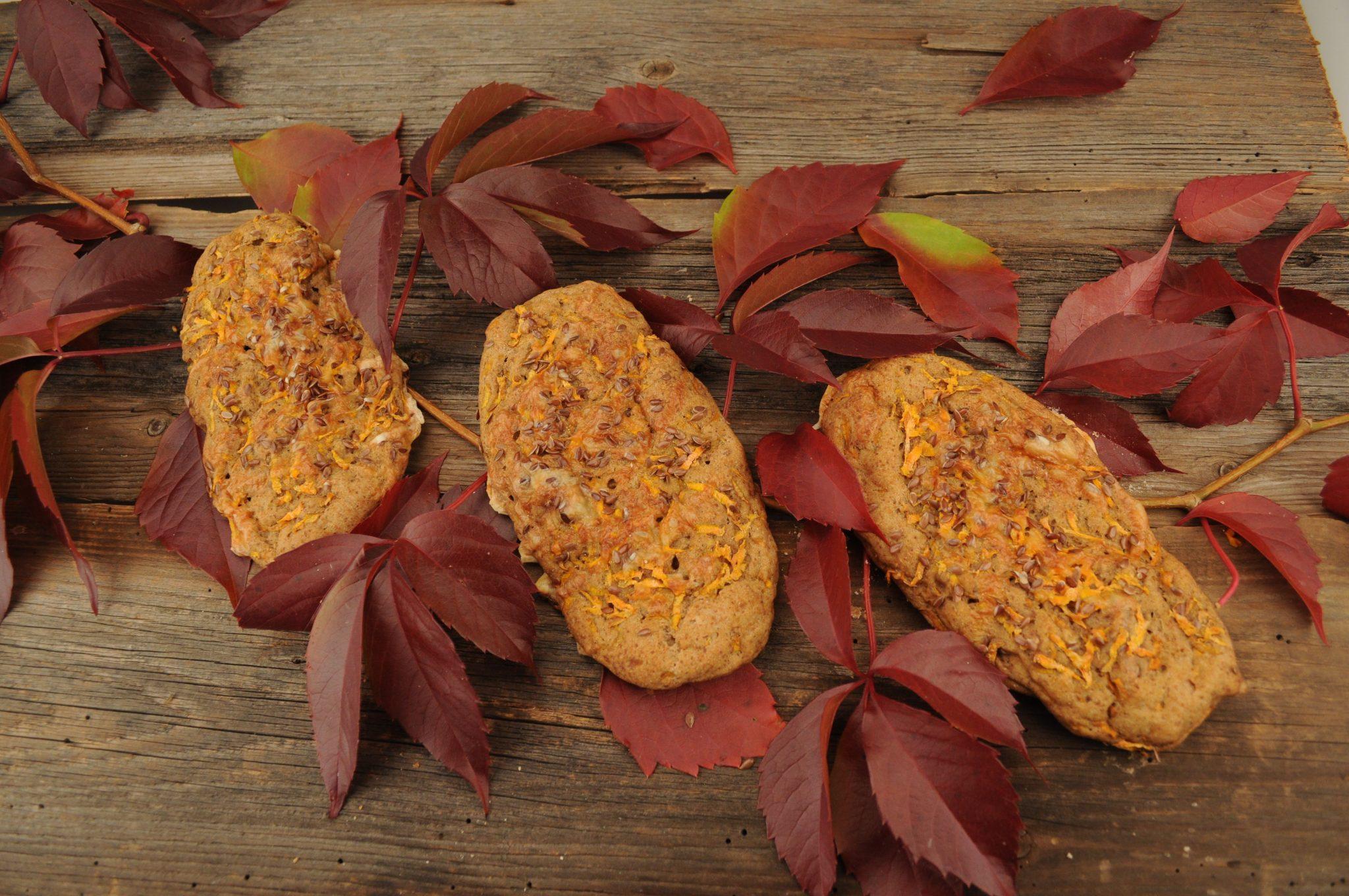 glutenfreies Karotten-Nuss Stangerl